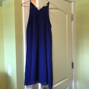 Blue/purple halter dress from ModCloth